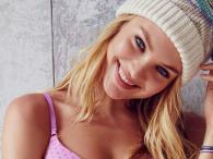 Candice Swanepoel rozgrzewa w bieliźnie Victoria's Secret