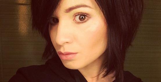 Ewelina Lisowska - masa selfie w nowej fryzurze